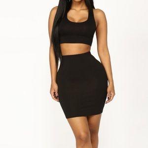Fashion Nova black matching set